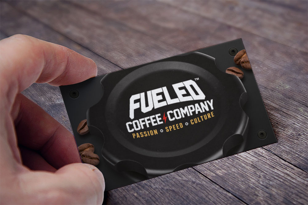 Fueled Coffee Company business cards front