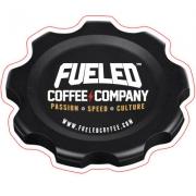 Fueled Coffee Company fuel cap sticker