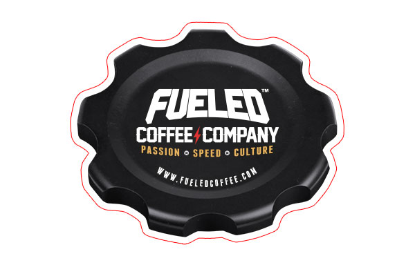 Fueled Coffee Company fuel cap sticker