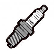Fueled Coffee Company spark plug sticker