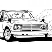 698 Nissan GTR drawing