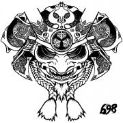 698 ONI mask drawing