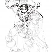 698 Robot pirate drawing