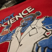 Nextlevel Painting not science shirt closeup