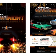 Local Finesse Cruise Night Flyer Front and Back