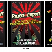 Project Import car specific services handout front and back