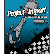 Project Import Blue Sticker